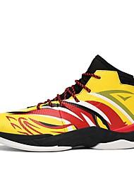 baratos -Homens sapatos Couro Sintético / Couro Ecológico Verão / Inverno Conforto Tênis Basquete Amarelo / Preto / Vermelho / Branco / azul