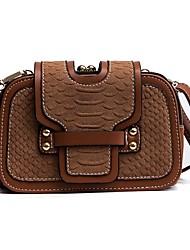 cheap -Women Bags PU Shoulder Bag Pattern / Print for All Season Black Brown Khaki