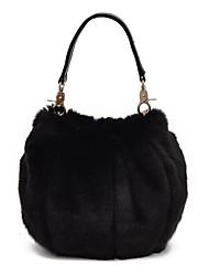 cheap -Women's Bags Fur Tote Feathers / Fur Gray / Light Green / Sky Blue
