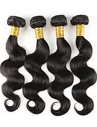 cheap -Brazilian Hair Body Wave Remy Human Hair Natural Color Hair Weaves 4 Bundles 12-18inch Human Hair Weaves Odor Free / Natural / Best