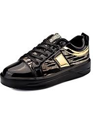 abordables -Hombre Zapatos Goma Primavera Otoño Confort Oxfords Para Plata Negro y Oro