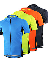 cheap -Arsuxeo Men's Short Sleeves Cycling Jersey - Orange Light Yellow Light Blue Dark Gray Bike Jersey, Quick Dry, Anatomic Design,