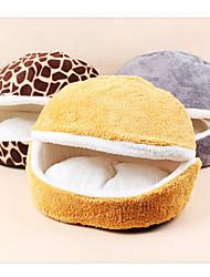 Кошка Кровати Животные Коврики и подушки Однотонный Серый Желтый Цвет-леопард Для домашних животных