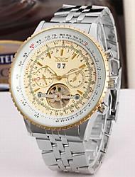 Недорогие -Jaragar Муж. Модные часы Часы со скелетом Наручные часы С автоподзаводом Крупногабаритные Нержавеющая сталь 30 m Календарь Cool Аналоговый Роскошь Классика На каждый день -
