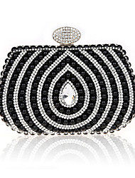 cheap -Women's Bags Polyester Evening Bag Crystals / Pearls Black / Silver / Fuchsia