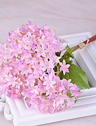 Недорогие -3 Филиал Шелк Гортензии Букеты на стол Искусственные Цветы