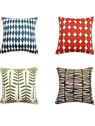 economico -4.0 pezzi Cotone cuscino del divano Cuscino da viaggio Cuscino da letto Federa Copricuscino, Fantasia geometrica Artistico Di tendenza