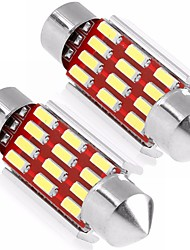 cheap -2PCS 36MM C5W Cabin Light Festoon 4014 12SMD LED CAN-bus Error Free White Color