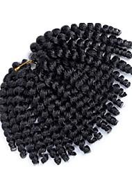 economico -Trecce Crochet pre-ciclo 1pack Trecce di capelli Bouncy Curl 8 pollici Capelli ricci stile giamaicano Capelli sintetici Borgogna Nero /