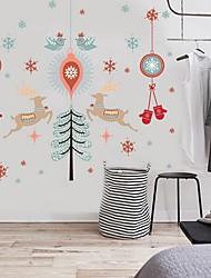 economico -Natale Adesivi murali Cavalletti Adesivi decorativi da parete,Pelle scamosciata Materiale Decorazioni per la casa Sticker murale