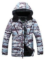 cheap -Men's Ski Jacket Warm, Waterproof, Windproof Skiing / Ski / Snowboard Fiber Down Jacket Ski Wear