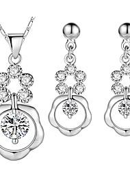 cheap -Women's Infinity Cubic Zirconia Rhinestone Silver Pendant Necklace - Vintage Elegant Drop Infinity Dark Blue Necklace For Wedding
