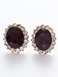 cheap -Women's Stud Earrings Basic Crystal Alloy Oval Jewelry For Graduation Daily