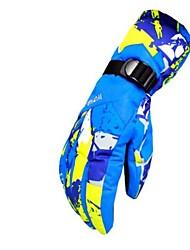 Winter Gloves Ski Gloves Men's Skin Full-finger Gloves Keep Warm Windproof Moisture Permeability Breathable Skiing Water proof material
