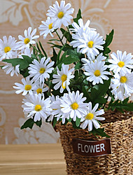 cheap -1 Branch Silk Daisies Tabletop Flower Artificial Flowers Home Decoration Wedding Flowers