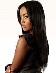 cheap -Synthetic Hair Wigs Natural Wave Middle Part Natural Hairline Layered Haircut Capless Natural Wigs Very Long Black