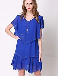 cheap -Women's Plus Size Daily Street chic Chiffon Dress