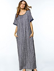 cheap -Women's Tunic Dress Print Maxi