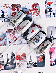 Недорогие -Стикер искусства ногтя Наклейки Аппликации Наклейка для переноса воды Инструменты сделай-сам макияж Косметические Ногтевой дизайн