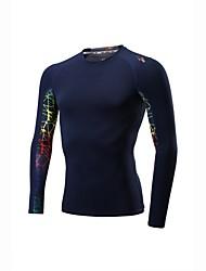 Per uomo Sottomaglia Manica lunga Allenamento Asciugatura rapida Fitness Felpa per Corsa Esercizi di fitness Elastene Nero Royal Blue M L
