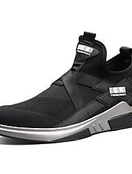 Недорогие -Для мужчин обувь Полиуретан Осень Зима Удобная обувь Светодиодные подошвы Кеды Для фитнеса Назначение Атлетический Черный Красный