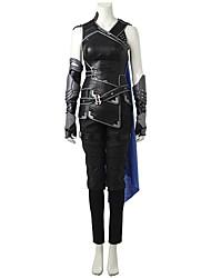 economico -Costumi da supereroi Cosplay Costumi Cosplay Costume Cosplay da film Grigio e nero Canottiera Pantaloni Guanti Cintura Mantello Altri