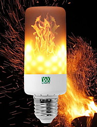 cheap -YWXLIGHT® 6W 550-600 lm E14 E27 E12 B22 LED Corn Lights T 99 leds SMD 3528 Dimmable Flame Flickering Decorative Warm White 85-265V