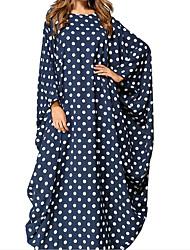 preiswerte -Damen Lose Kleid-Ausgehen Niedlich Street Schick Punkt Geometrisch Tierfell-Druck Rundhalsausschnitt Maxi Langärmelige Polyester Herbst
