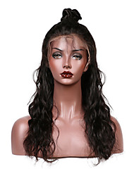 cheap -Remy Human Hair Lace Front Wig Brazilian Hair Water Wave With Baby Hair 130% Density Natural Hairline Short Medium Long Women's Human