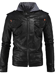 cheap -Men Motorcycle Protective Jacket Slim Hood Leather Protector Gear For Motorsport