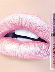 cheap -6Colors Makeup Metallic Waterproof Diamond Shine Lipstick Lip Gloss Cosmetics