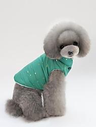 abordables -Chat Chien Manteaux Gilet Vêtements résistants au froid Noël Vêtements pour Chien Rouge Vert Rose Coton Costume Pour les animaux