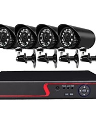 cheap -4 Channel 1080N AHD DVR Security Camera System with 4 Weatherproof 1.3MP Cameras with Night Vision