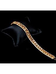 abordables -Femme Zircon Strass Zircon Strass Bracelets de tennis - Or Bracelet Pour Mariage Soirée