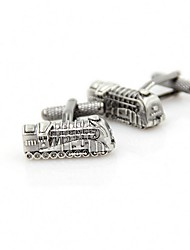 cheap -Train Silver Cufflinks Copper Retro / Vintage Party Gift Men's Costume Jewelry