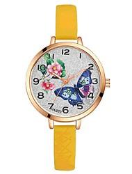 baratos -Mulheres Quartzo Relógio de Pulso Chinês Mostrador Grande Gel Silica Banda Casual Colorido Elegant Preta Branco Azul Vermelho Laranja