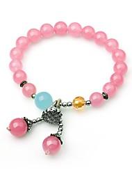 preiswerte -Damen Strang-Armbänder Kristall Modisch Koreanisch Krystall Kreisform Schmuck Geschenk Ausgehen Modeschmuck Rosa