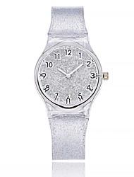 cheap -Women's Casual Watch Fashion Watch Wrist watch Chinese Quartz Large Dial Silica Gel Band Casual Black White Blue Brown Pink Blushing Pink