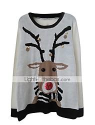 サンタスーツ クリスマスセーター 女性用 クリスマス イベント/ホリデー ハロウィーンコスチューム グレー 仕様