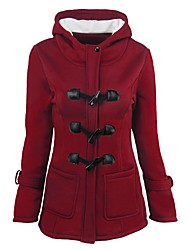 cheap -Women's Plus Size Coat - Solid Colored, Stylish