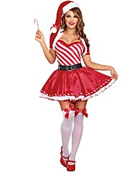 cheap -Santa Claus / Mrs.Claus Outfits Women's Christmas Festival / Holiday Halloween Costumes Red Holiday