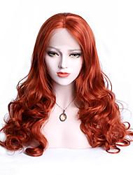 economico -EEWigs Donna Parrucche Lace Front Sintetiche Medio Ondulato naturale Arancione Con ciuffetti Parrucca Cosplay Parrucca naturale Parrucca