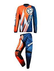 Men Motorcycle Suit T-Shirt Pants Anti-skidding Wear-Resistant Suit T-Shirt Pants Protector Gear for Motorsport