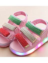 preiswerte -Mädchen Schuhe Künstliche Mikrofaser Polyurethan Frühling Sommer Komfort Sandalen Für Normal Weiß Schwarz Rosa