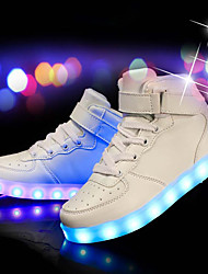 billiga -Herr Light Up Shoes PU Höst / Vinter Sneakers Vit / Svart / Röd / Fest / afton