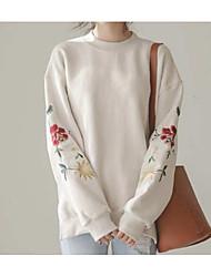 Standard Pullover Da donna-Casual Vintage Con stampe Girocollo Manica lunga Cashmere Cotone Autunno Inverno Medio spessore Media