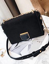 Women Bags Velvet Crossbody Bag Buttons for Casual All Seasons Black Dark Green