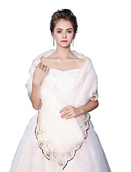 cheap -Sleeveless Faux Fur Wedding Party / Evening Women's Wrap With Laces Shawls