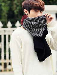 cheap -Men's Knitwear Rectangle Patchwork Winter Spring Gray Red