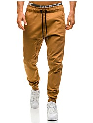 cheap -Men's Street chic Plus Size Cotton Skinny Harem Pants - Solid Colored Cut Out